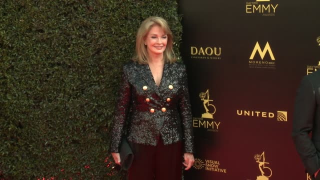 deidre hall at the 2018 daytime emmy awards at pasadena civic auditorium on april 29 2018 in pasadena california - deidre hall stock videos and b-roll footage