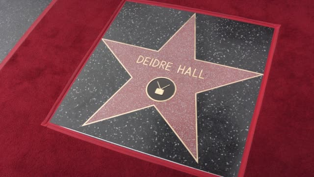 atmosphere deidre hall honored with star on the hollywood walk of fame at hollywood walk of fame on may 19 2016 in hollywood california - deidre hall stock videos and b-roll footage