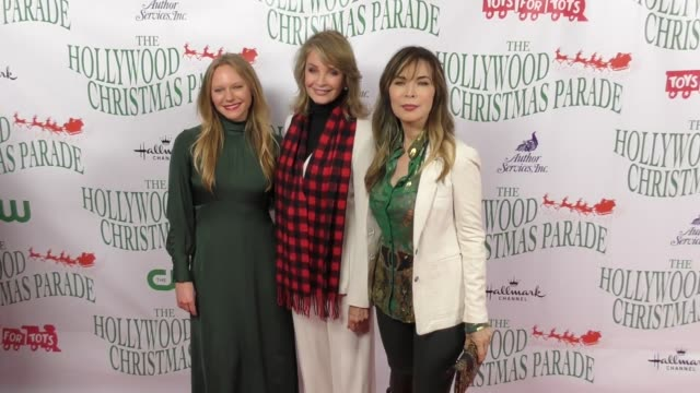 deidre hall lauren koslow marci miller at the 86th annual hollywood christmas parade on november 26 2017 in hollywood california - deidre hall stock videos and b-roll footage