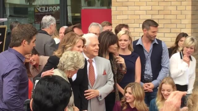 deidre hall receives her star on the hollywood walk of fame surrounded by cast members from the show she's been on for over 40 years days of our lives - deidre hall stock videos and b-roll footage