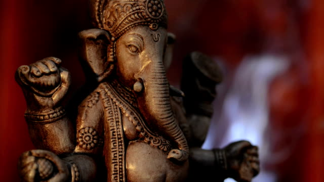 deity of ganesha from india - hinduism stock videos & royalty-free footage