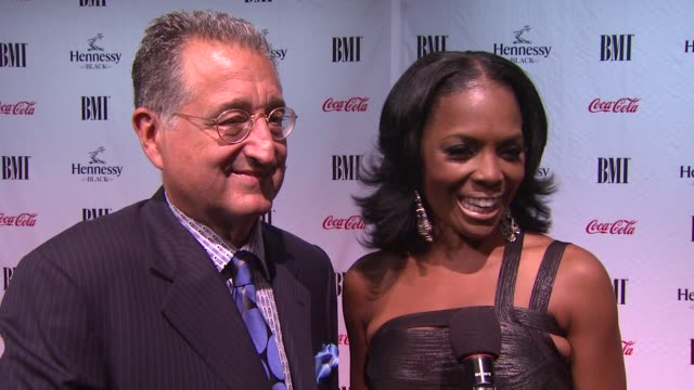 Del Bryant and Catherine Brewton talks about the BMI awards and the honoree Mr George Clinton at the 9th Annual BMI Urban Music Awards at New York NY