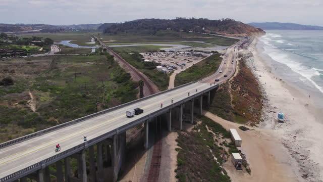 del mar bridge - mar stock videos & royalty-free footage