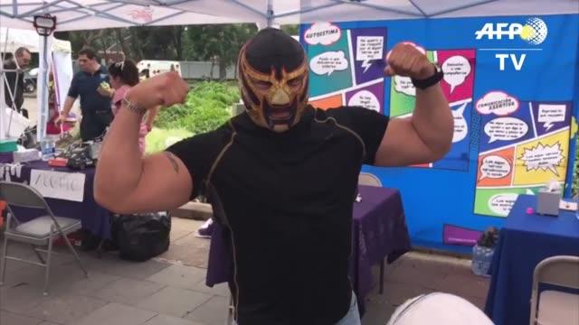 del paisaje apocaliptico que quedo en ciudad de mexico tras el fuerte sismo del martes surgen luchadores enmascarados y brigadas de ciclistas que... - tragedy mask stock videos & royalty-free footage