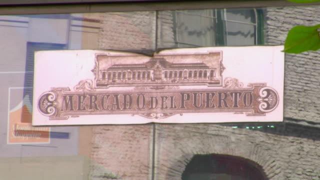 CU Del Puerto Market sign, Montevideo, Uruguay