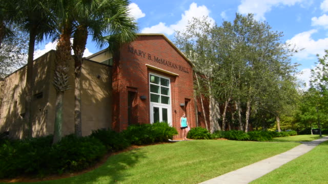 Deland Florida Stetson University college Mary McMahan Music Hall in small town 4K