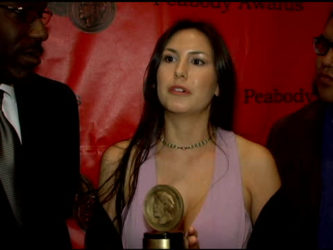 delanna studi on the role of native americans as a modern day people in 'edge of america' at the 65th annual peabody awards at the waldorf astoria... - waldorf astoria new york stock videos & royalty-free footage