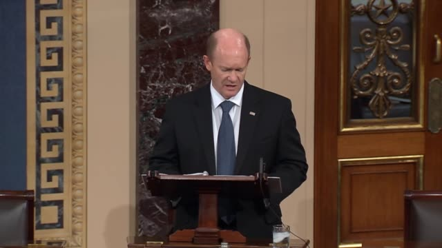 delaware senator chris coons begins floor speech with brief acknowledgement of ten dead and twenty injured according to first reports about a... - community college stock videos & royalty-free footage