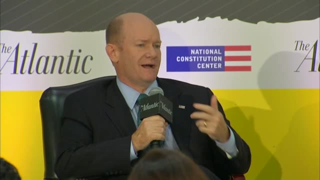 Delaware Senator Chris Coons says at a Constitution Center event as an FBI supplemental investigation was underway into the background of Supreme...