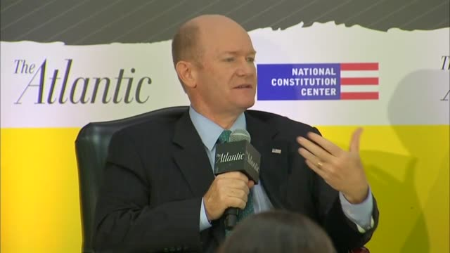 delaware senator chris coons says at a constitution center event as an fbi supplemental investigation was underway into the background of supreme... - nomination stock videos & royalty-free footage