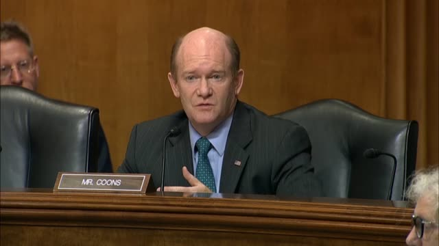 Delaware Senator Chris Coons tells Secretary of State Mike Pompeo at a Foreign Relations Committee hearing that while his statements were clear the...