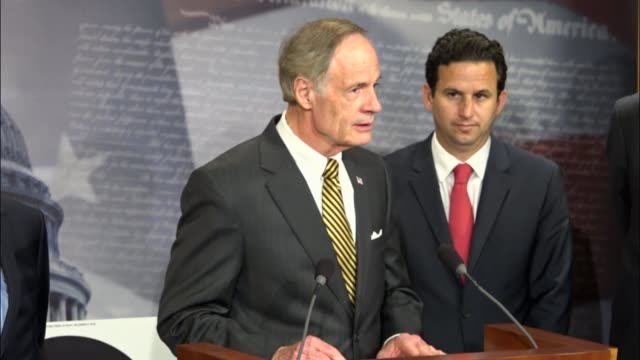 delaware senator tom carper says delaware has no mountains and as the lowest lying state in america sees effects of climate change regularly, such as... - paris agreement stock videos & royalty-free footage