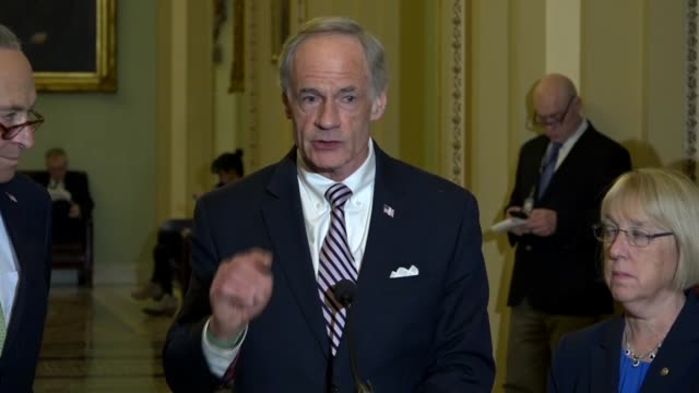 delaware senator tom carper tells reporters at a weekly briefing that the trump administration does not vet well its nominations for elves scott... - elf stock videos & royalty-free footage