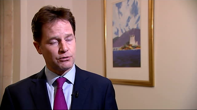 day's reactions London INT Nick Clegg MP interview SOT of course the public will start thinking whether it's true or not that the report will pull...