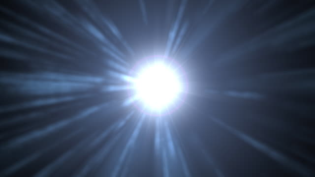 Delayed Star Explosion of Light with Lens Flare