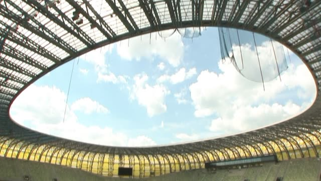 delays and the threat of massive fines have overshadowed poland's preparations for the euro 2012 championships with just a year to go before kickoff... - championships stock videos & royalty-free footage