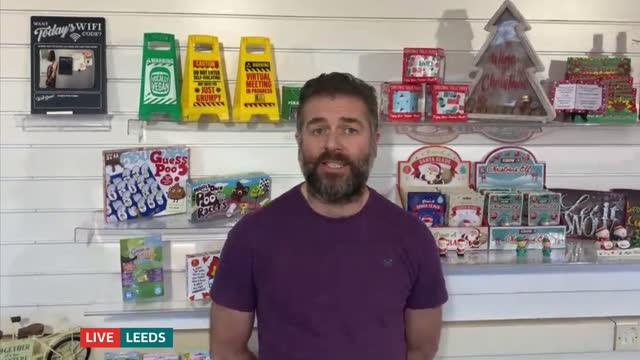 delays at uk's ports causing shortage of toys in shops before christmas; england: london: gir: int thomas o'brien live 2-way interview from leeds sot - toy stock videos & royalty-free footage