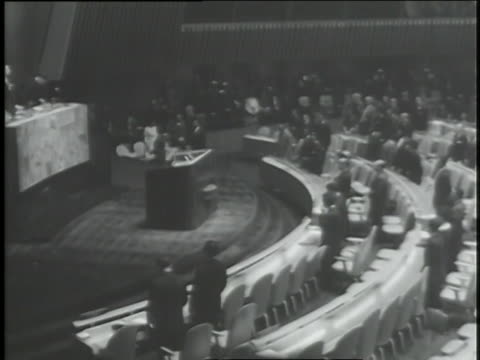 delegates to the united nations stand in tribute to the assassinated president john f. kennedy. - john f. kennedy us president stock videos & royalty-free footage