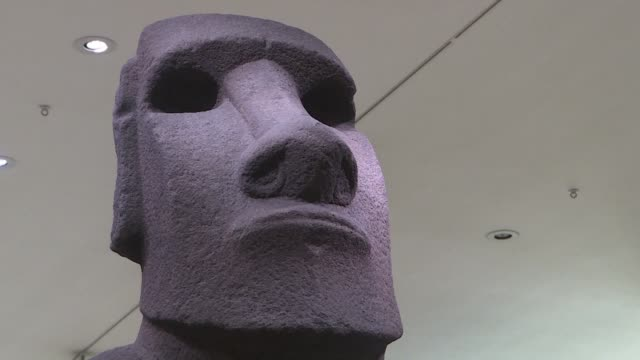 a delegation from easter island backed by the chilean government is in london to ask for the return of a moai statue important to the indigenous... - religious celebration stock videos & royalty-free footage