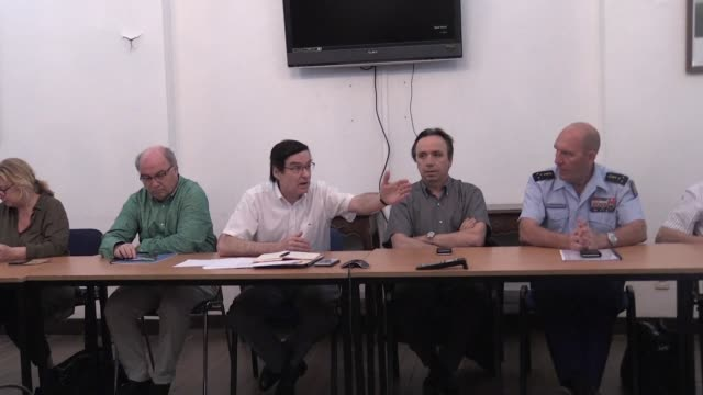 vídeos y material grabado en eventos de stock de a delegation sent by the french government to guiana to negotiate with strikers holds a press conference - territorios franceses de ultramar