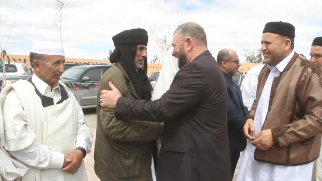 delegations from the two most heavily armed towns in libya meet in zintan in libya and hold reconciliation talks shaking hands with the other... - reconciliation stock videos & royalty-free footage