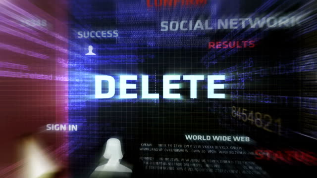 stockvideo's en b-roll-footage met delete button - drukknop