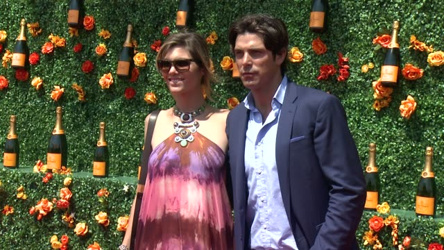 Delfina Blaquier Nacho Figueras at Veuve Clicquot Polo Classic 2015 at Liberty State Park on May 30 2015 in Jersey City New Jersey