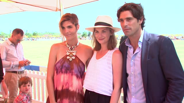 Delfina Blaquier Ruth Wilson Nacho Figueras at Veuve Clicquot Polo Classic 2015 at Liberty State Park on May 30 2015 in Jersey City New Jersey