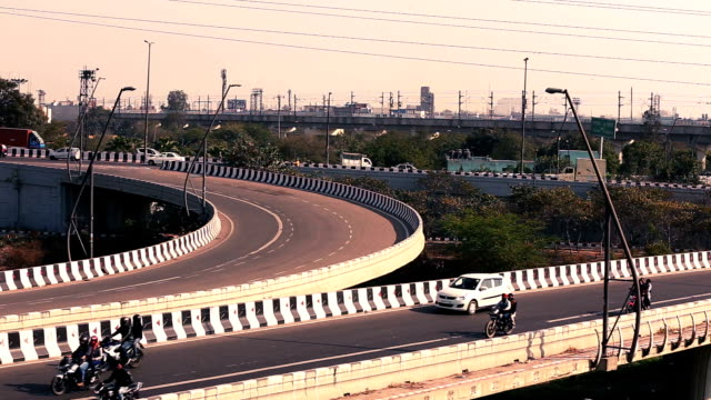 delhi city traffic time lapse - new delhi stock videos & royalty-free footage