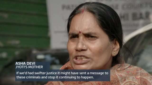 parents of victim ask courts why death sentences against perpetrators have not been carried out india delhi ext parents of jyoti singh outside court... - sexual violence stock videos & royalty-free footage