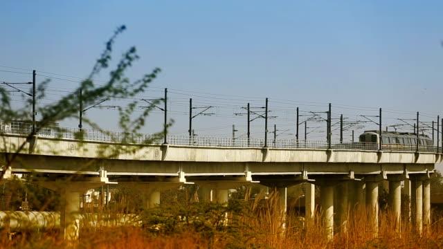 delhi metro train, india - delhi stock videos & royalty-free footage