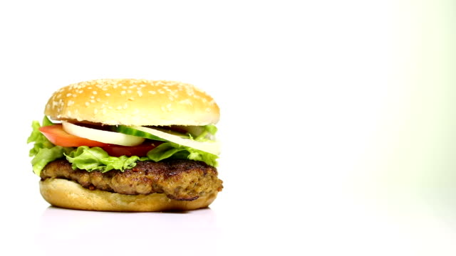delicious beefburger - cheeseburger stock videos & royalty-free footage