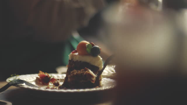 delicious cake story - tasting stock videos & royalty-free footage