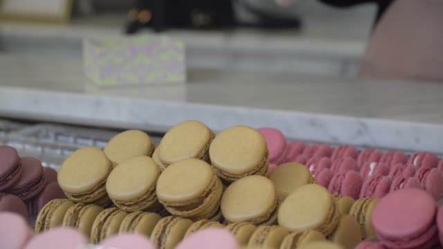 delicious colourful sweets macaroon - macaroon stock videos and b-roll footage