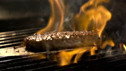 Delicious fillet meat on the barbeque grill