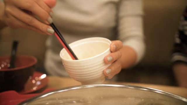 delicious hot pot shabu - sukiyaki stock videos and b-roll footage