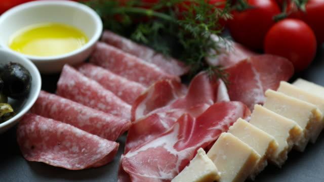 delicious mediterranean foods - italian culture stock videos & royalty-free footage