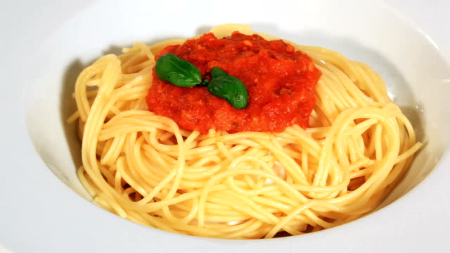 delicious spaghetti bolognese - spaghetti bolognese stock videos & royalty-free footage