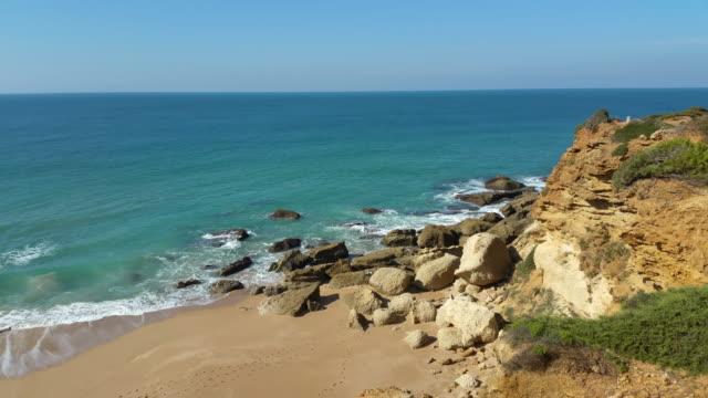 delightful beach with nobody - silvestre stock-videos und b-roll-filmmaterial