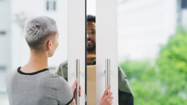 delivering direct to your door - door to door salesperson stock videos & royalty-free footage