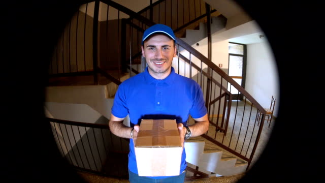 delivering package - postal worker stock videos & royalty-free footage