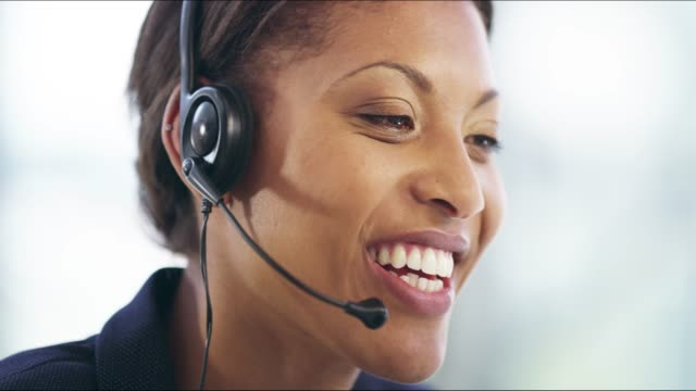 delivering service with a smile - switchboard operator stock videos & royalty-free footage