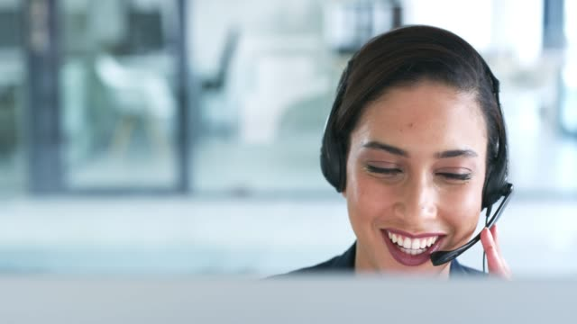 delivering service with a smile - call center stock videos & royalty-free footage