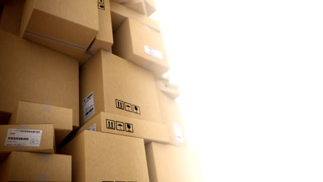 delivery background with copyspace. light version. hd loop - box container stock videos and b-roll footage