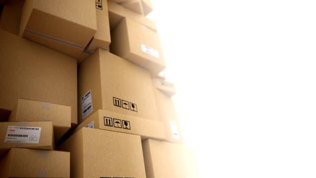 stockvideo's en b-roll-footage met delivery background with copyspace. light version. hd loop - stapelen