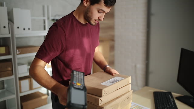 delivery business - ordering stock videos & royalty-free footage