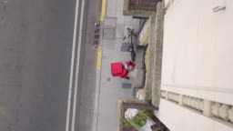 Delivery man with bike