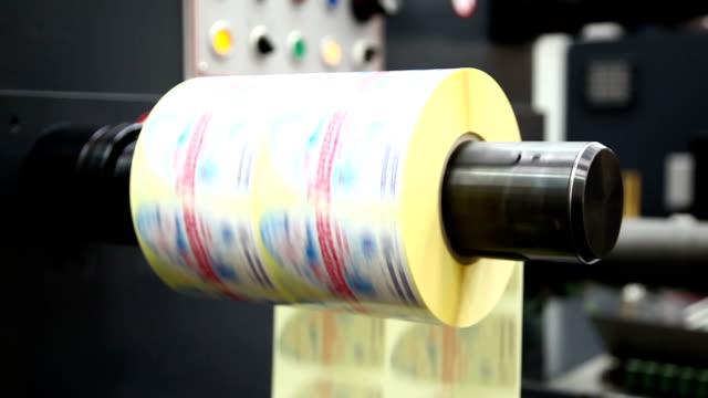 vídeos y material grabado en eventos de stock de entrega. - máquina impresora
