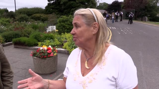 Delma Kathner speaking after telling Prime Minister Theresa May she is the bionic woman at Belleek Pottery in Fermanagh Mrs May has made her first...