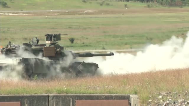 delta 25 cavalry conducts gunnery operations - armoured vehicle stock videos & royalty-free footage